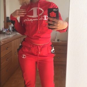 Pants - WOMENS CHAMPION TRACKSUIT / Sweater & Pants